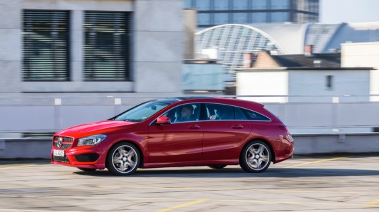 Driving Launch CLA Shooting Brake und CLA 45 AMG Shooting Brake  Frankfurt 2015